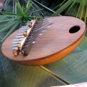 Large kalimba in tropical gourd .