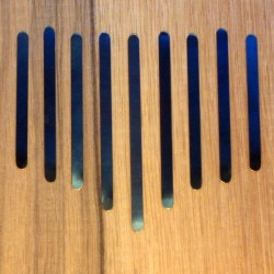 Set of 9 reeds for mini kalimbas.