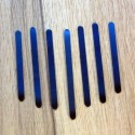 Set of 7 reeds for micro kalimbas.
